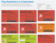 Tablet Preview of cheltenhambadminton.co.uk